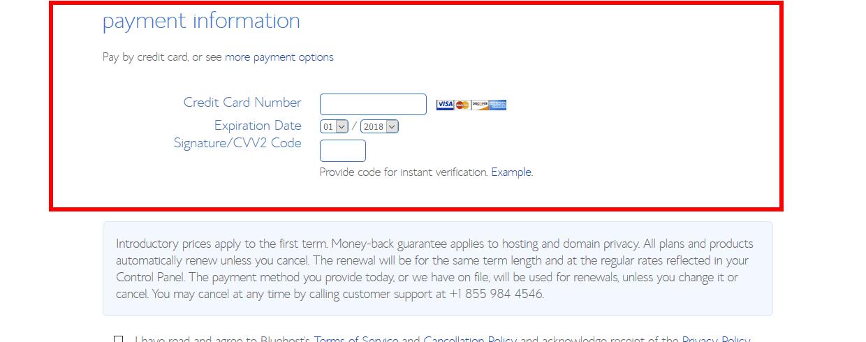paiement sécurisé d'un hébergeur web