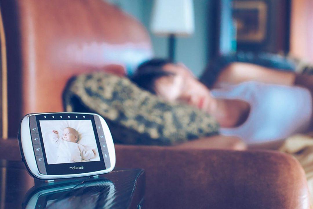 moniteur sans onde pour parents avec un babyphone video sans onde